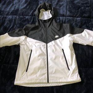 Men's Nike Black and White Sportswear Windrunner